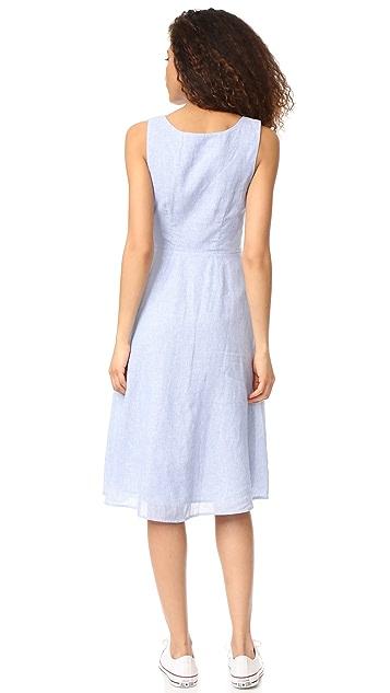 BB Dakota Lavinia Pinstripe Linen Dress