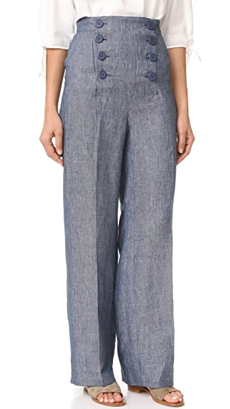 BB Dakota Skye Linen High Waisted Pants