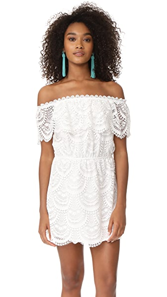 BB Dakota Hope Off Shoulder Lace Dress - Optic White