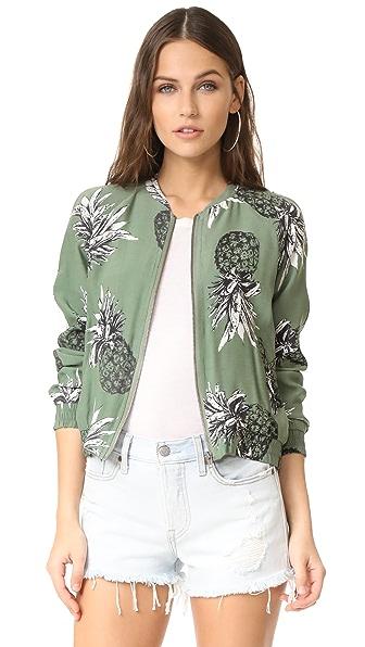 BB Dakota Delaney Pineapple Bomber Jacket