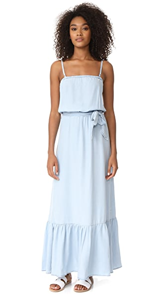 BB Dakota Kate Denim Maxi Dress - Light Blue