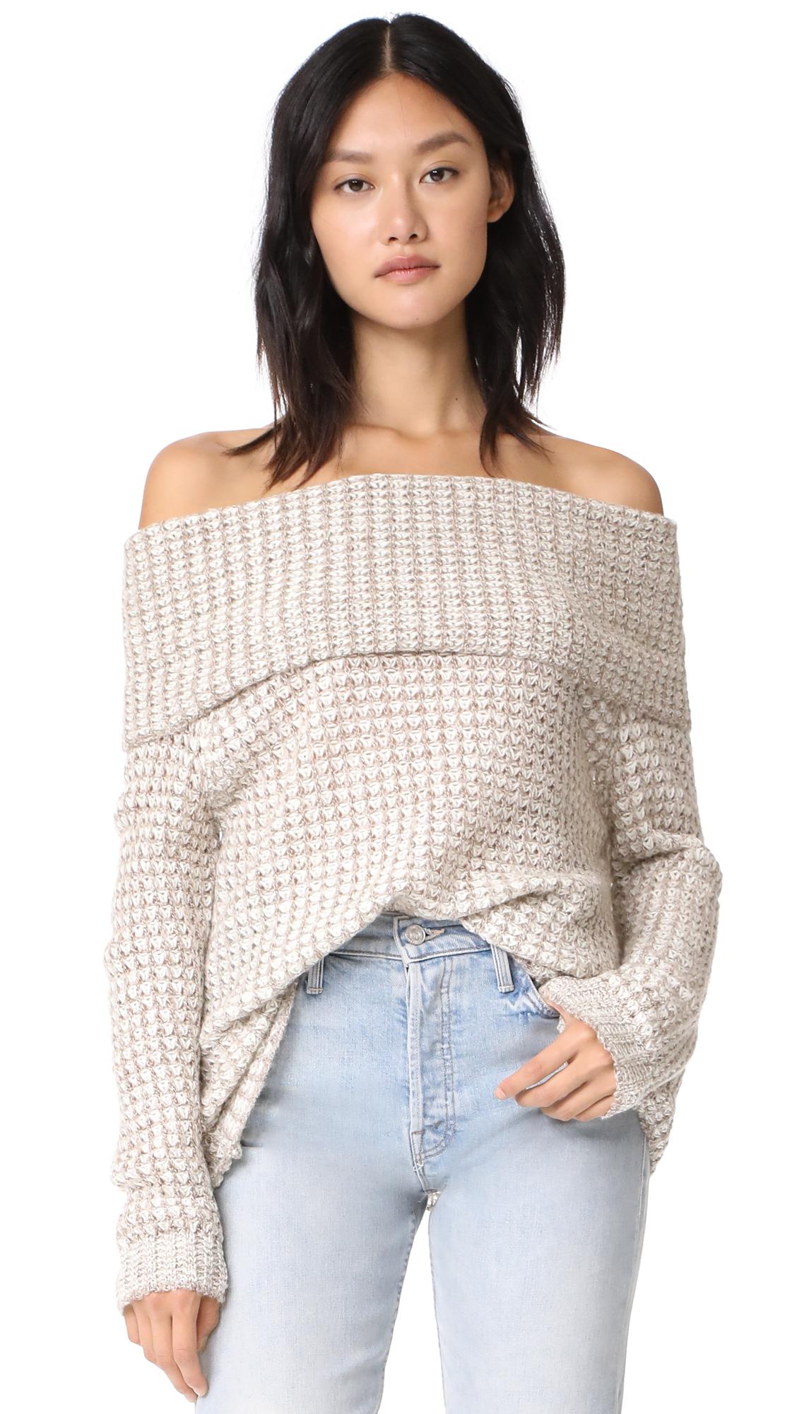 BB Dakota Tegan Off Shoulder Tunic Sweater