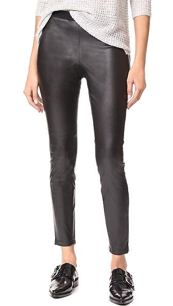 BB Dakota Juliet Faux Leather Leggings - Black