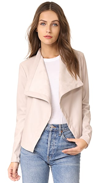 BB Dakota Gracelyn Drape Front Jacket - Latte