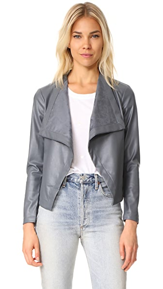 BB Dakota Gracelyn Drape Front Jacket - Thunderstorm