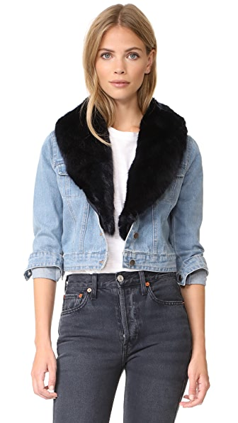 BB Dakota Mia Denim Jacket - Light Blue