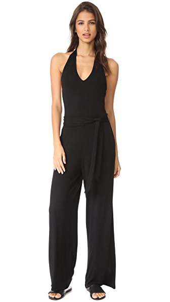 BB Dakota Roselle Halter Jumpsuit In Black