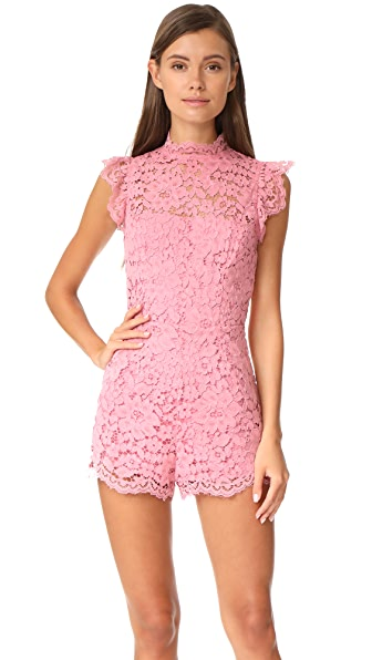 BB Dakota Priscila Lace Romper - Dusty Rose