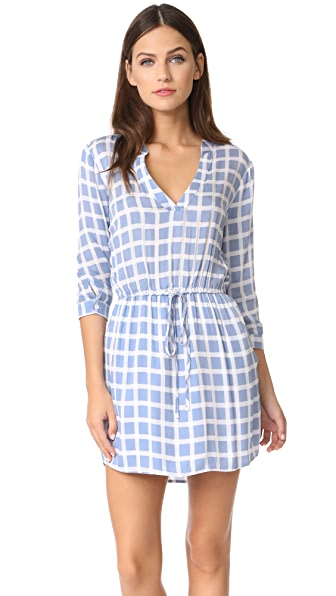 BB Dakota Daniella Plaid Shirtdress - Faded Denim