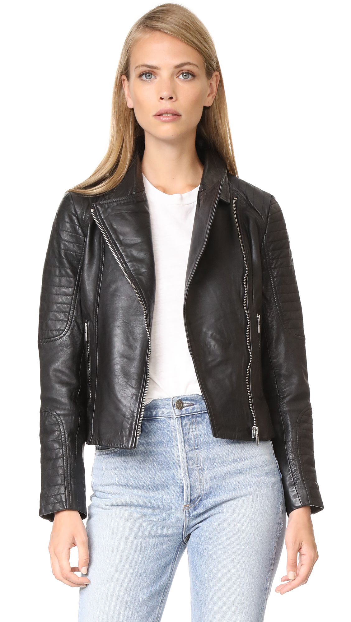 BB Dakota Dominic Leather Jacket - Black