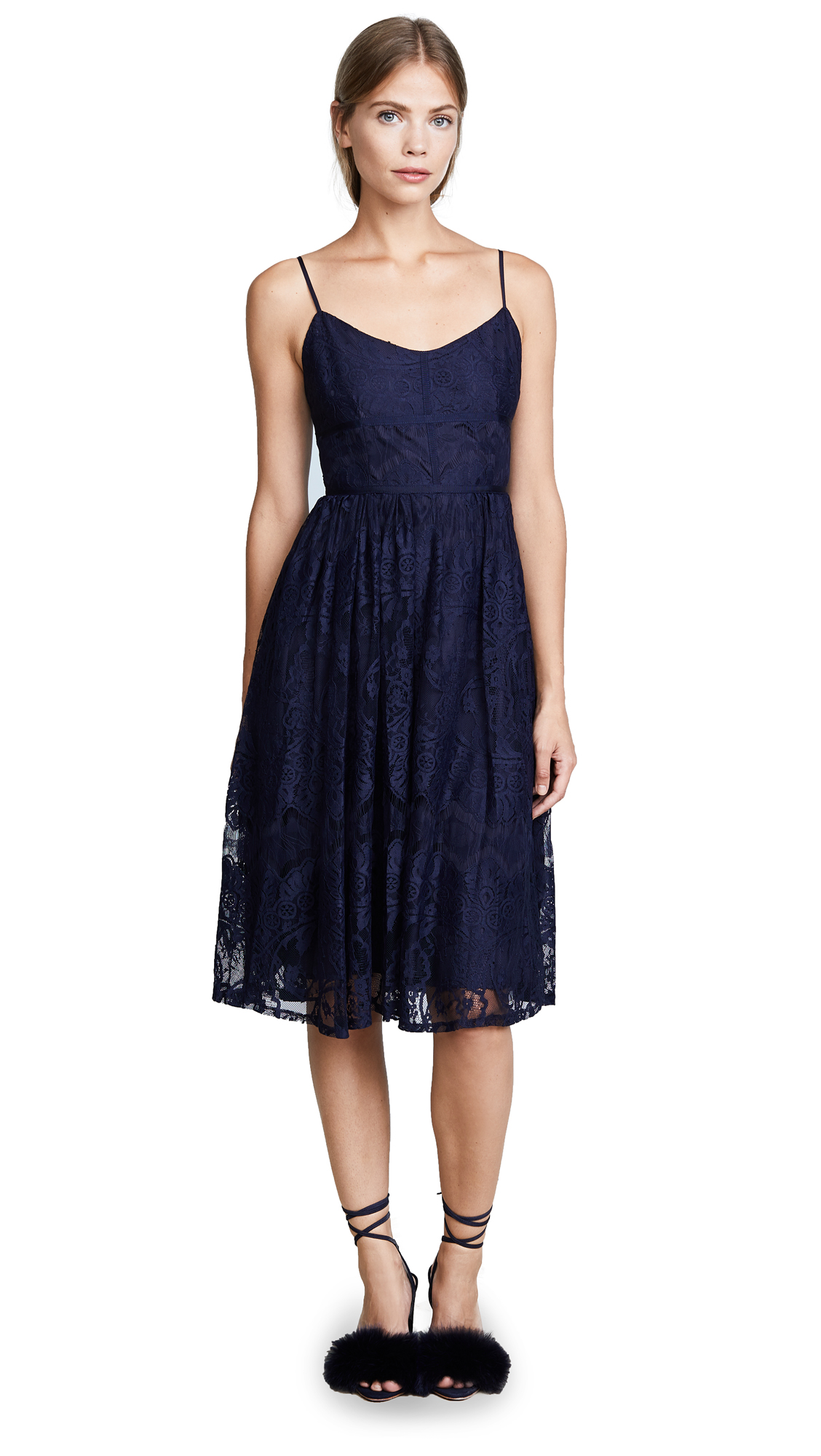 BB Dakota Galena Lace Dress - Navy