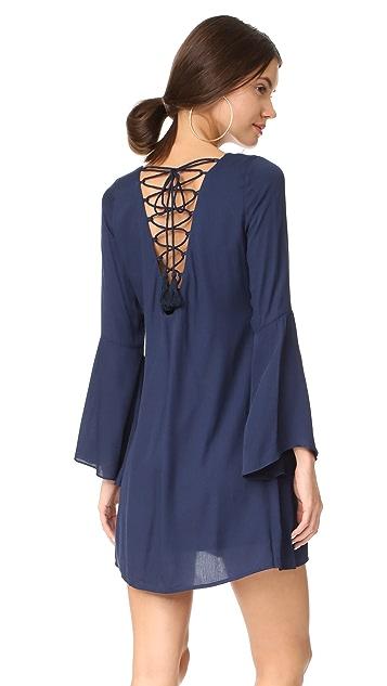 BB Dakota Bria Embroidered Tie Back Dress
