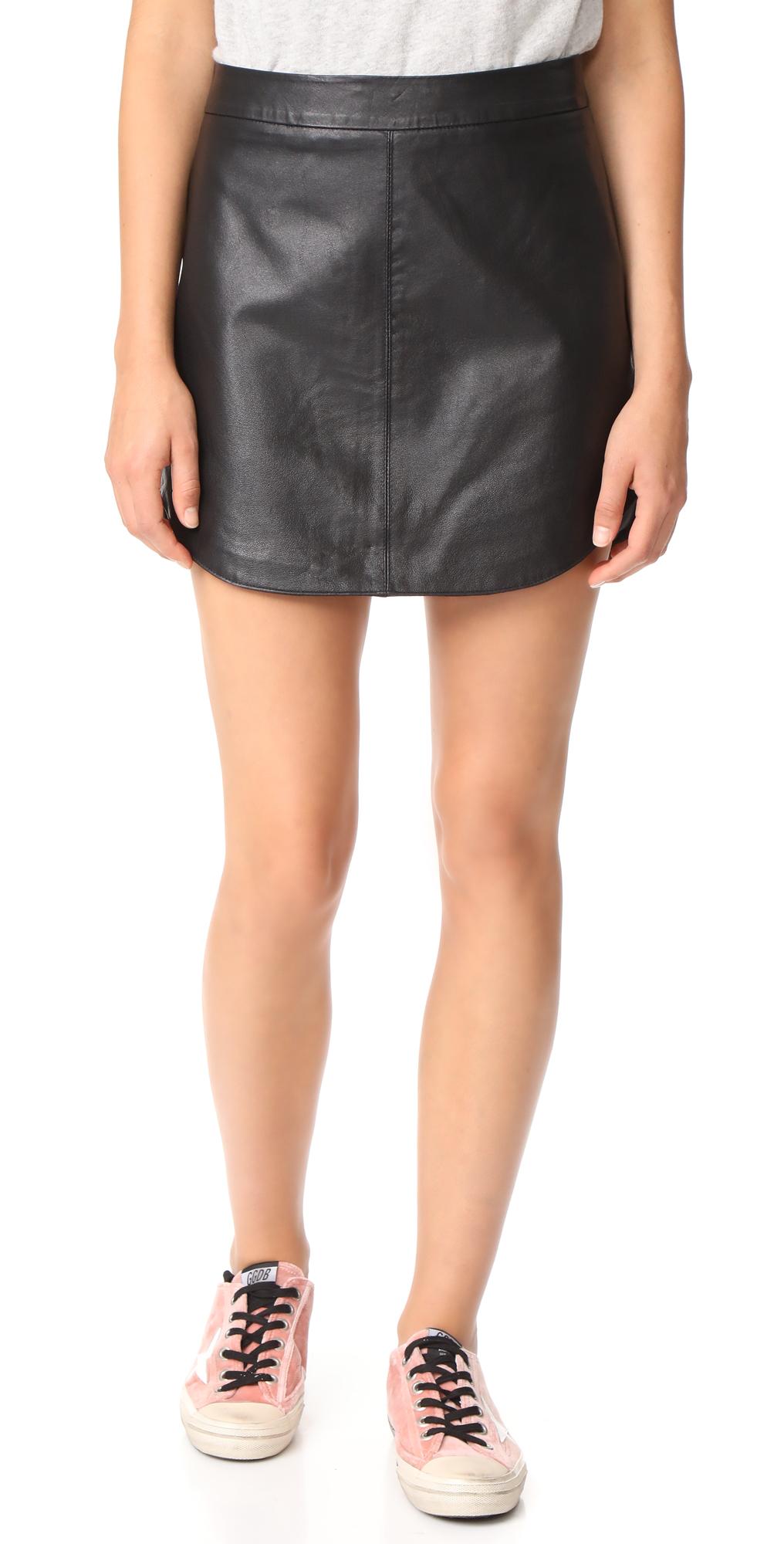 Conrad Leather Mini Skirt BB Dakota