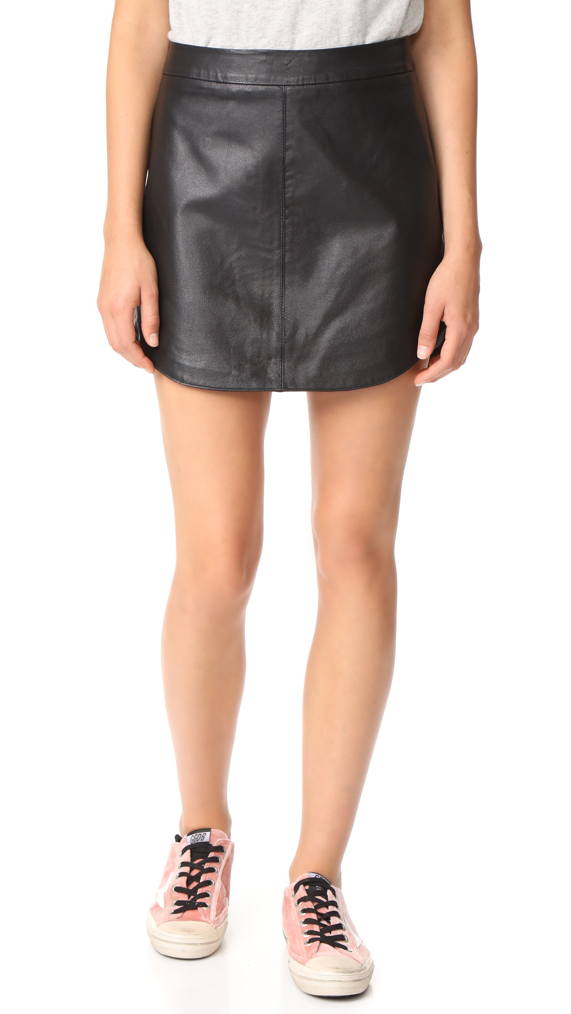 BB Dakota Conrad Leather Mini Skirt - Black