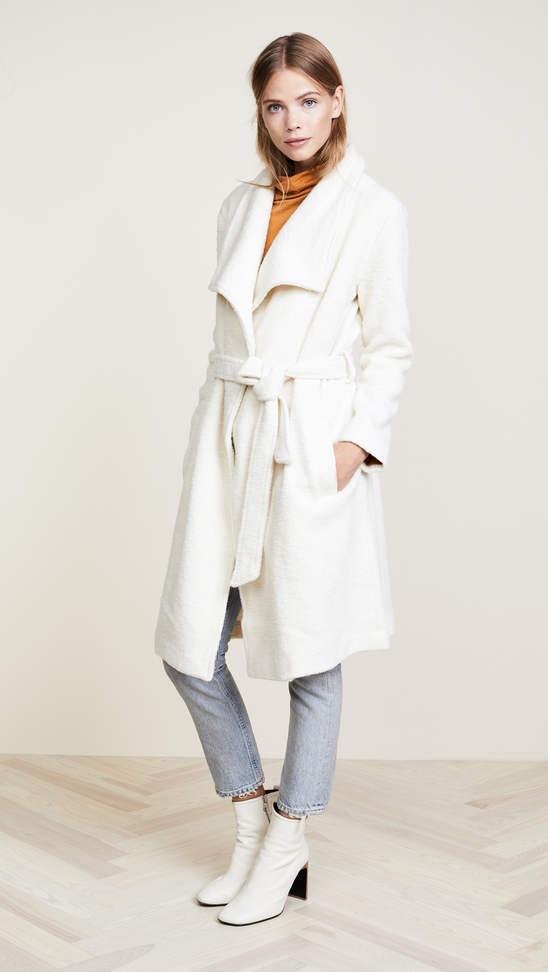 Le Fashion Blog Under $200 BB Dakota Isaac White Tie Front Overcoat Via Shopbop