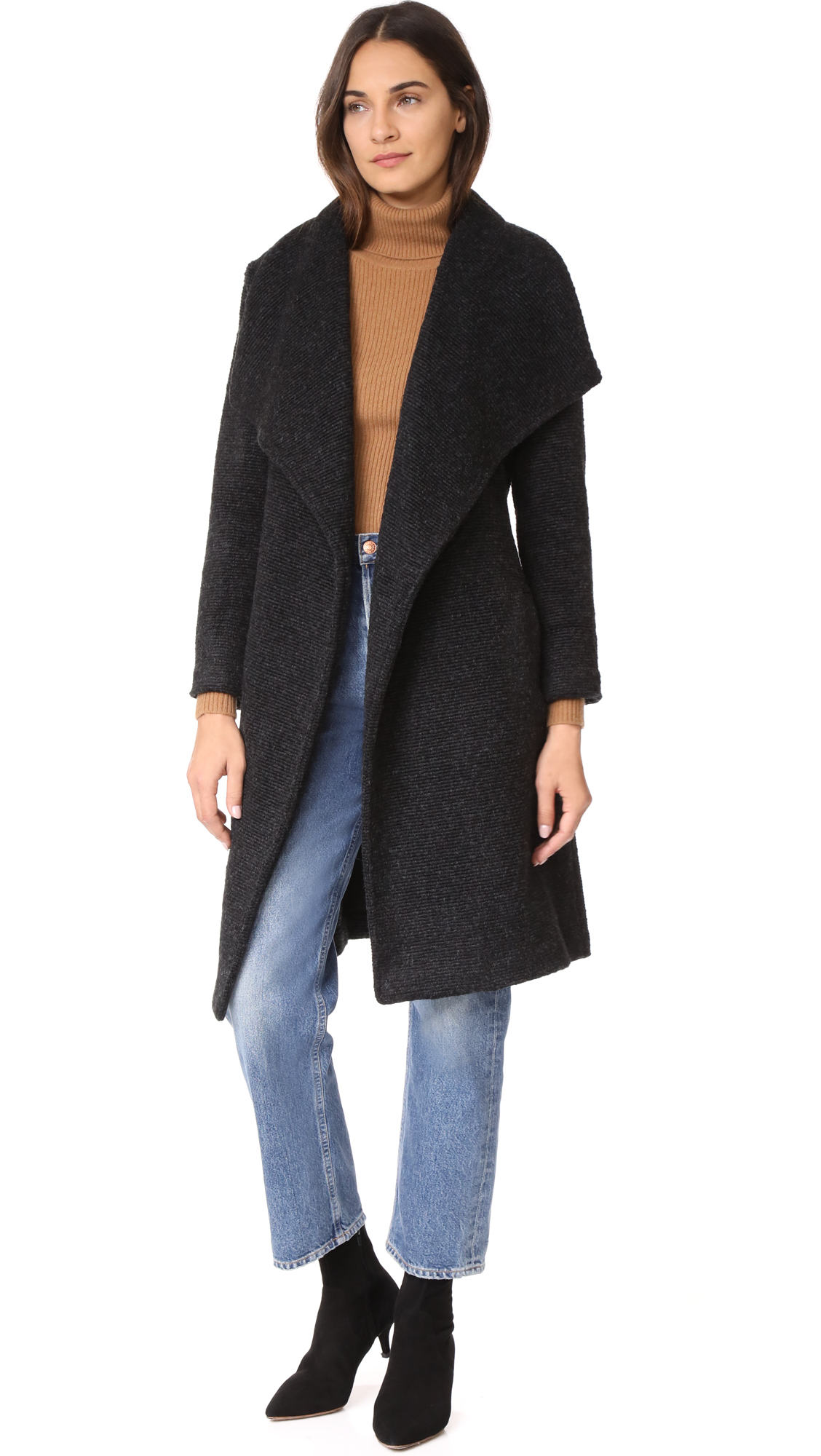 BB Dakota Isaac Coat In Charcoal Grey