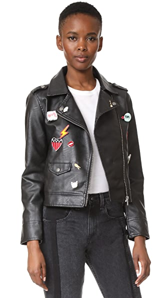 BB Dakota Jack by BB Dakota Ray Moto Jacket - Black