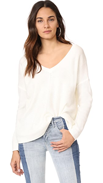 BB Dakota Jack by BB Dakota Comber Deep V Sweater - Ivory