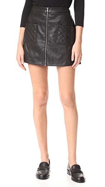 BB Dakota Jack by BB Dakota Cohen Faux Leather Skirt - Black