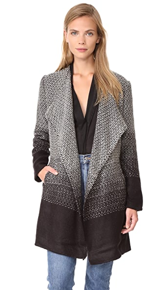 BB Dakota Myles Blanket Coat - Black