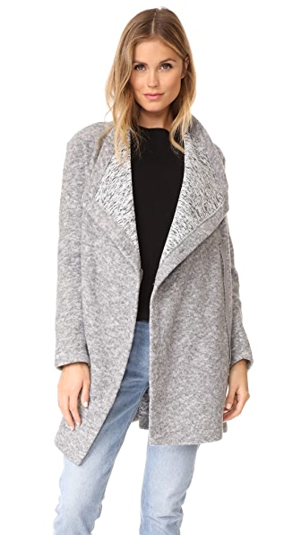 BB Dakota Maggie Drape Front Coat