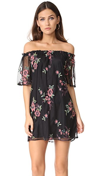 BB Dakota Lacole Off Shoulder Dress In Black