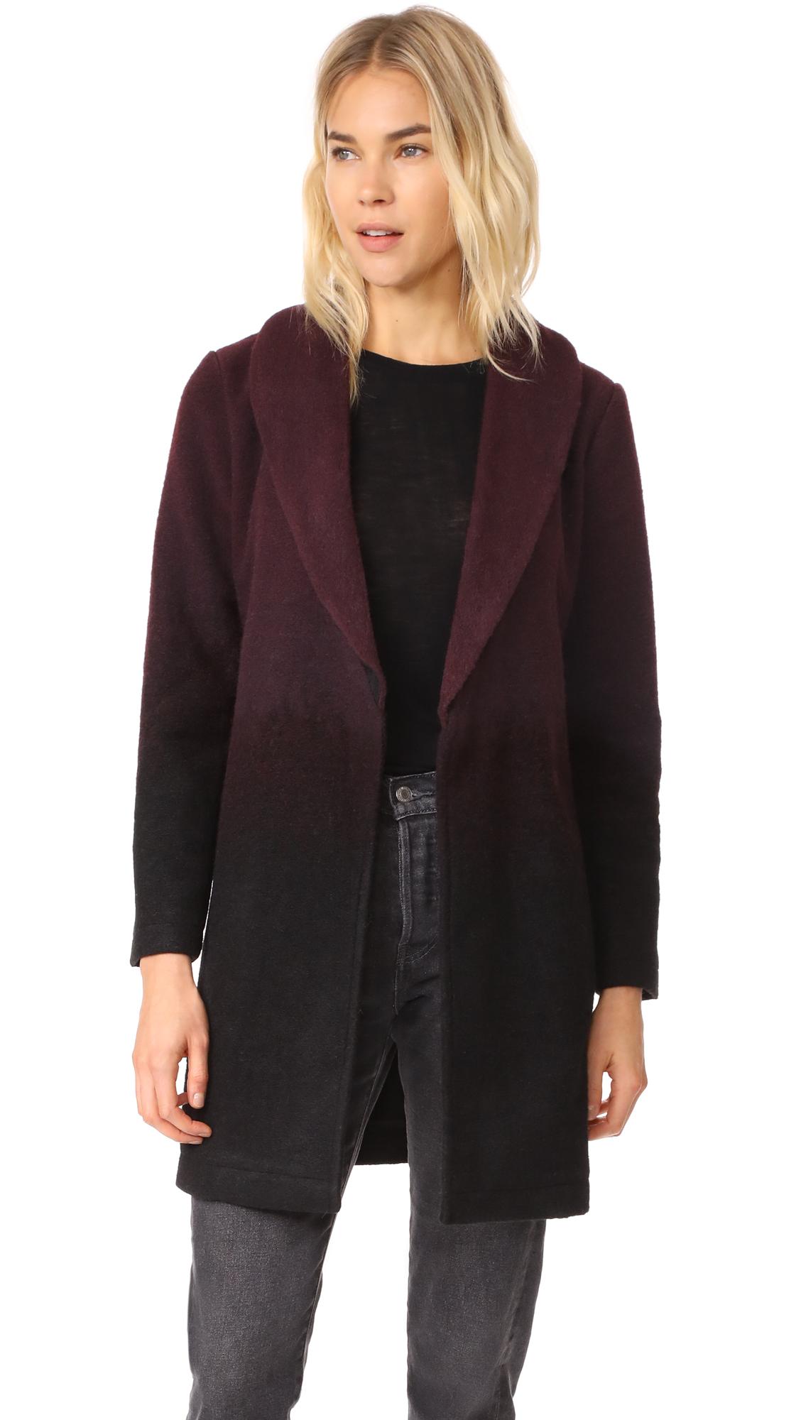 BB Dakota Evan Ombre Woolen Coat - Fig