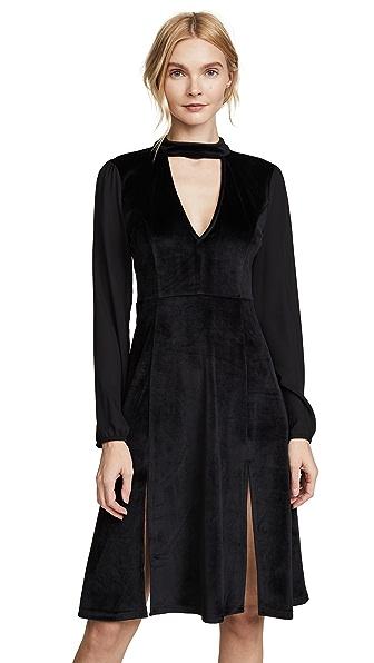 BB Dakota Jack By BB Dakota Sherwood Velvet Dress In Black