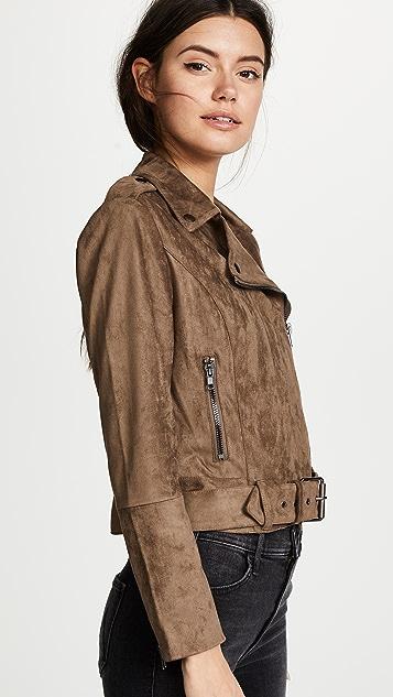 BB Dakota Waller Faux Suede Moto Jacket