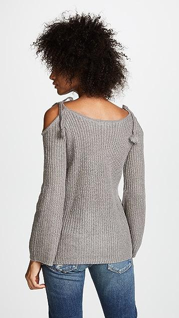 BB Dakota Mellie Tie Shoulder Ribbed Sweater