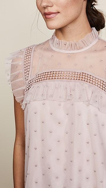 BB Dakota Roslyn Swiss Dot Victorian Blouse