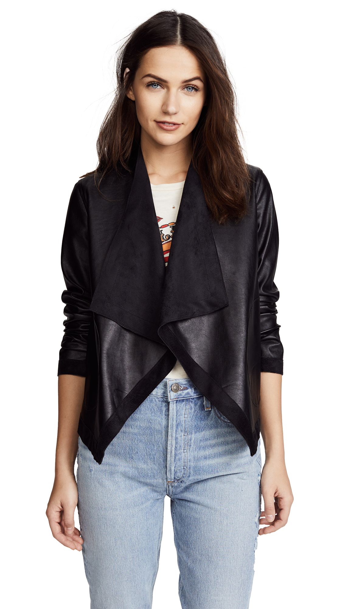 BB Dakota Teagan Reversible Vegan Leather Jacket In Black