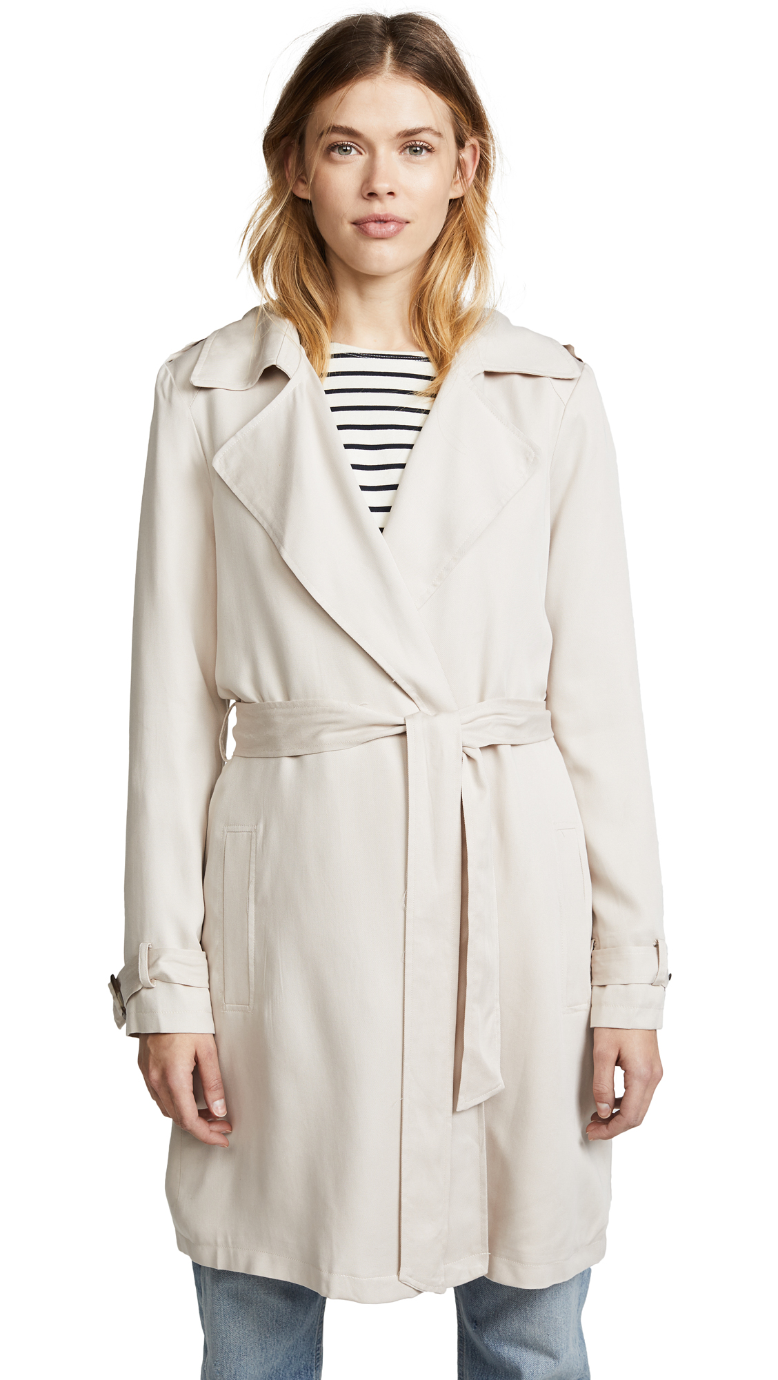 BB Dakota Rocco Trench Coat - Bone