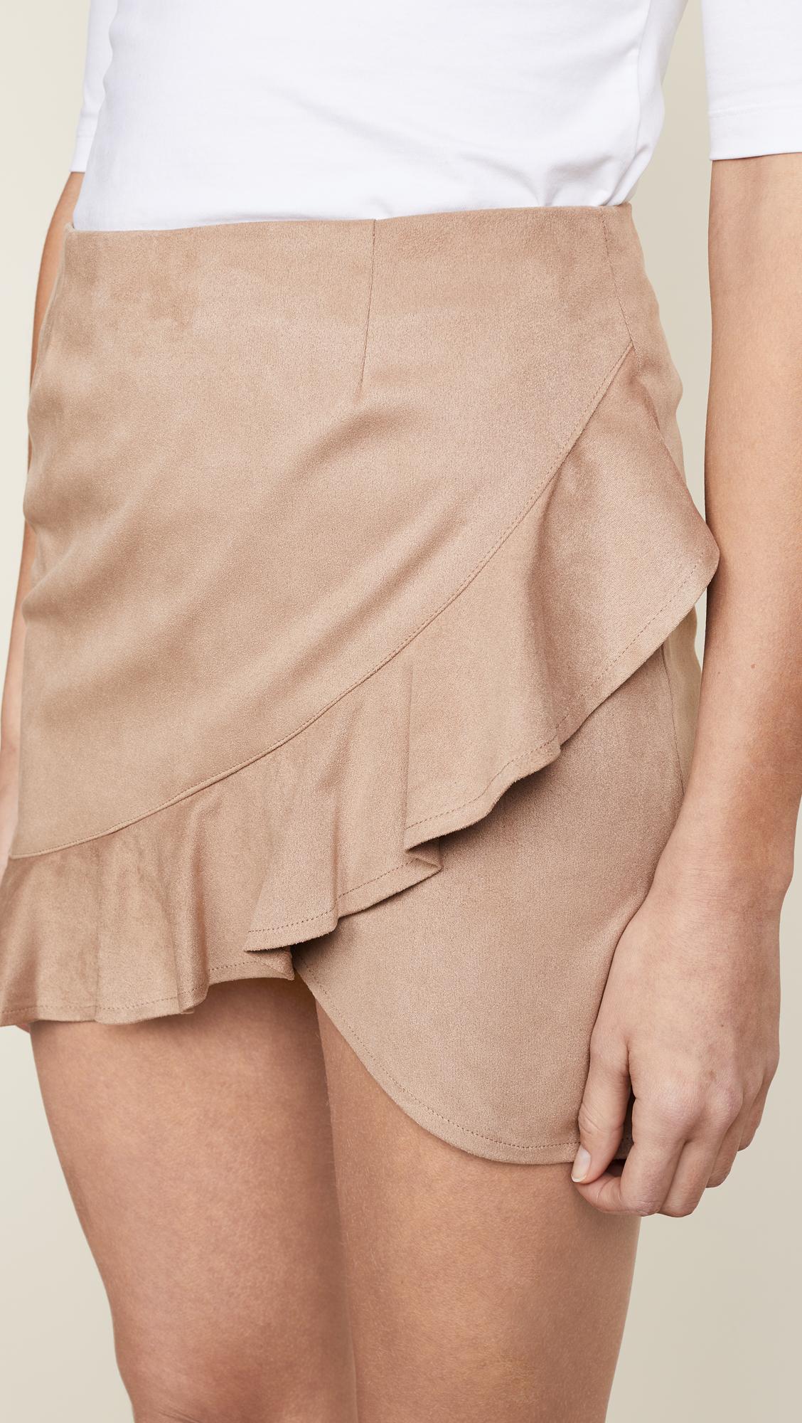 5d7270de99 BB Dakota Jack by BB Dakota Khan Faux Suede Skirt | SHOPBOP