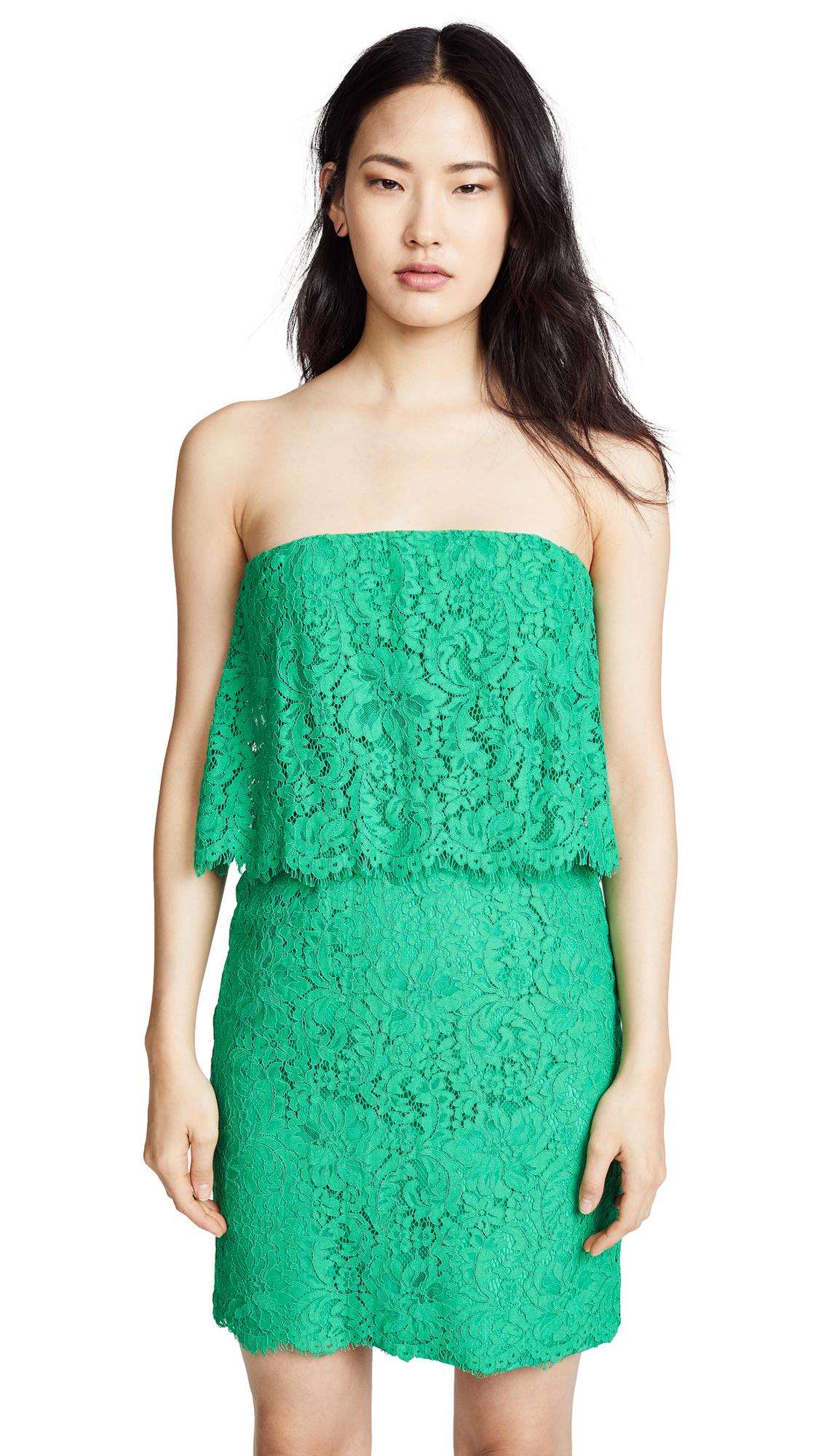 BB Dakota Cici Scalloped Lace Dress - Jade