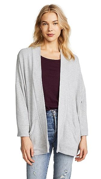 BB Dakota Hacci Kimono Jacket In Heather Grey