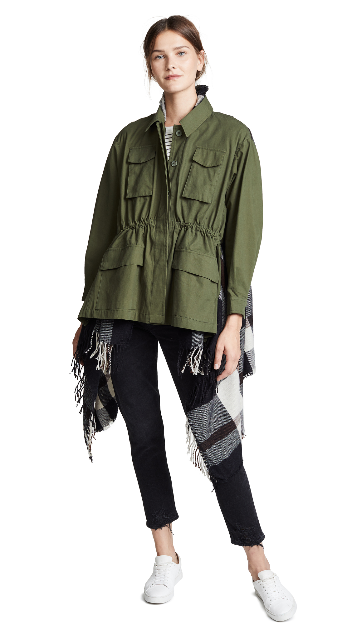 BB Dakota Breakfast Army Jacket In Army Green