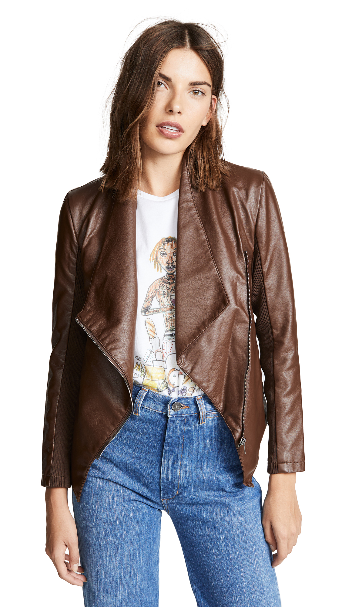 BB Dakota Gabrielle Jacket In Smokey Brown