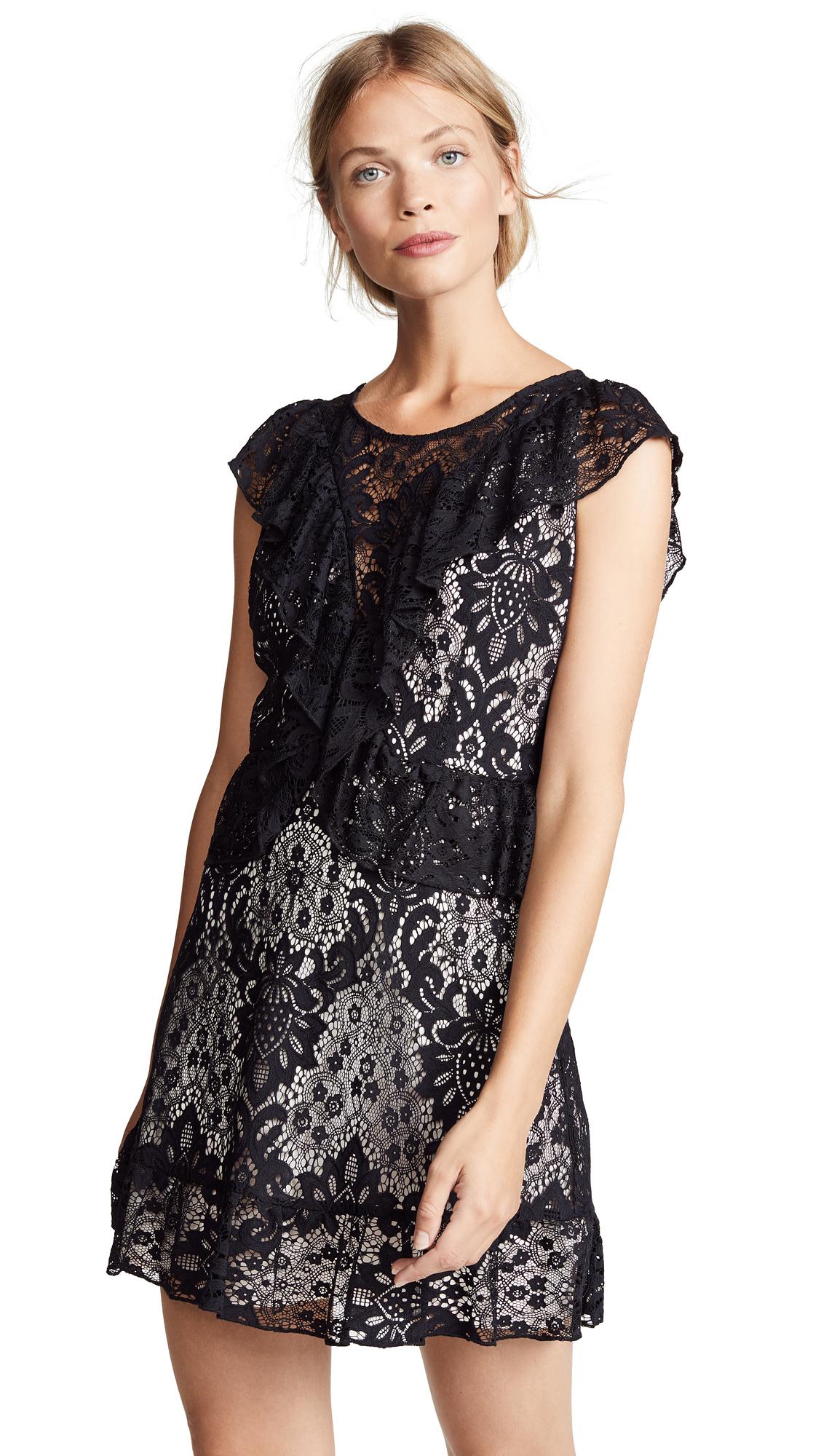 BB Dakota Shaken Not Stirred Lace Ruffle Dress