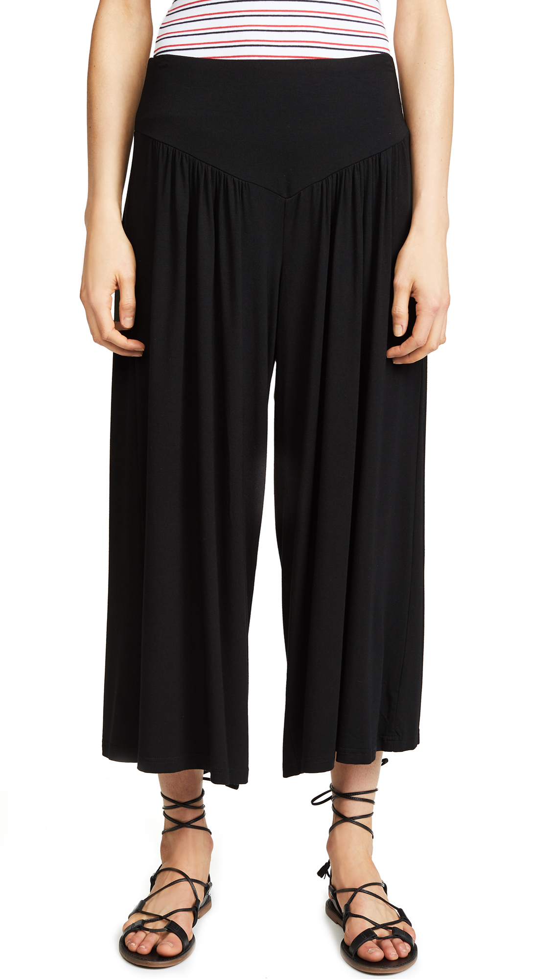 BB Dakota Cropped Wide Leg Pants