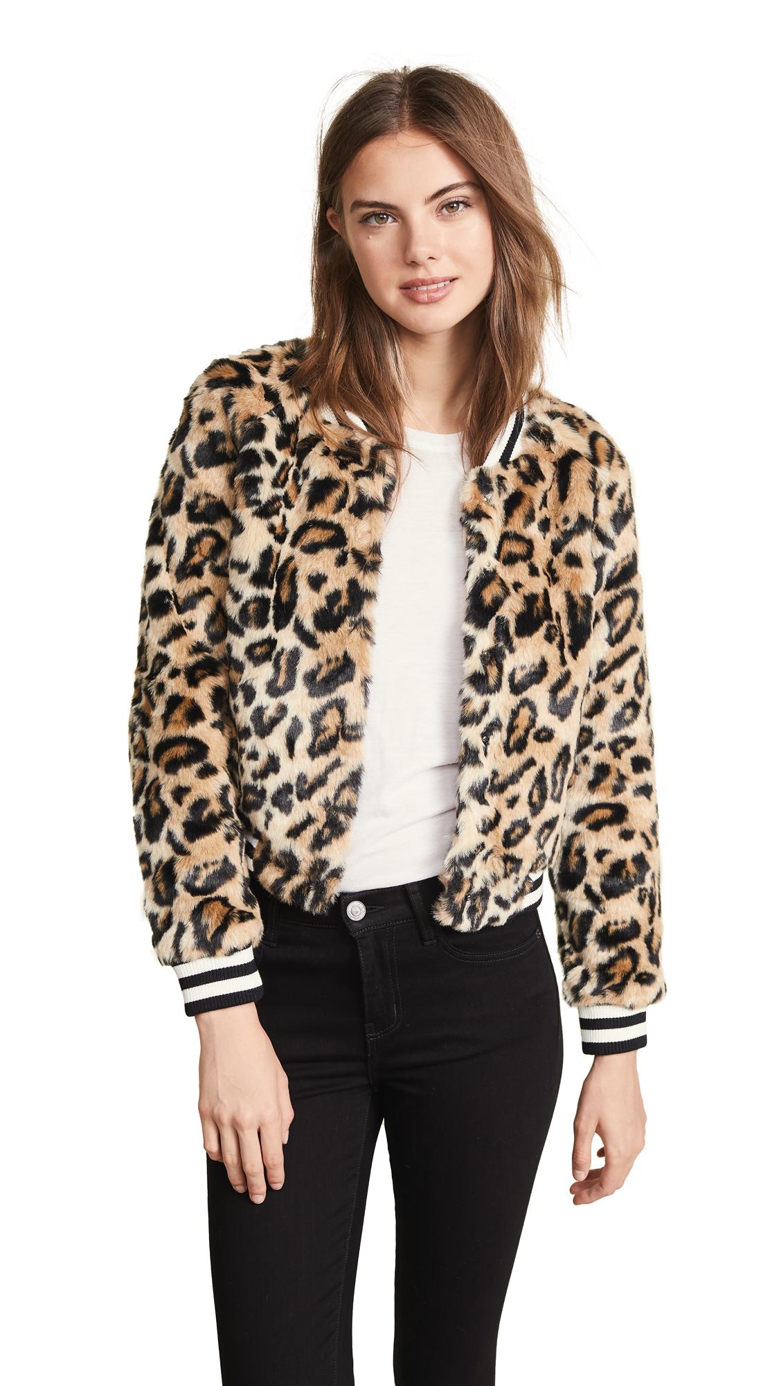 BB Dakota Jack by BB Dakota Clever Girl Leopard Faux Fur Bomber