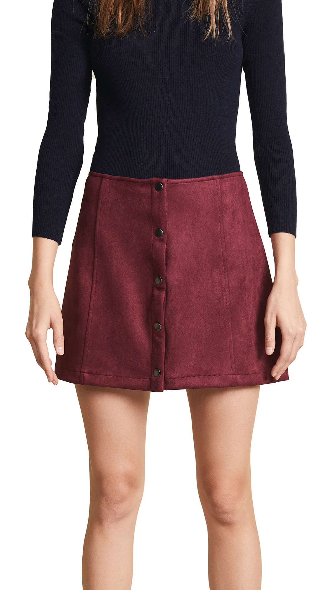 JACK CAN'T BUY ME LOVE FAUX SUEDE SKIRT