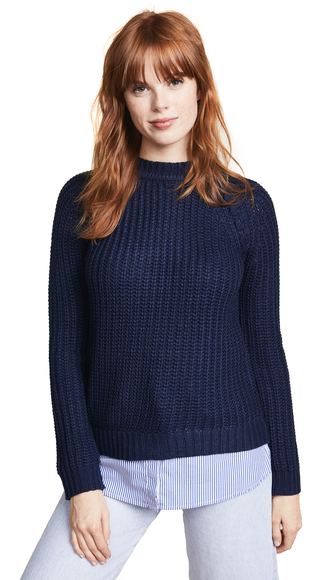 BB Dakota Back At It Sweater In Midnight Sky