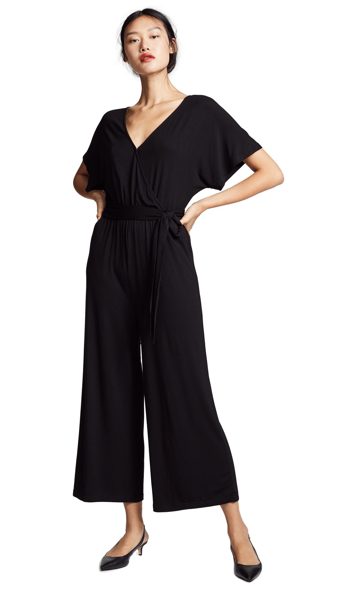 BB Dakota Waist Tie Jumpsuit In Black
