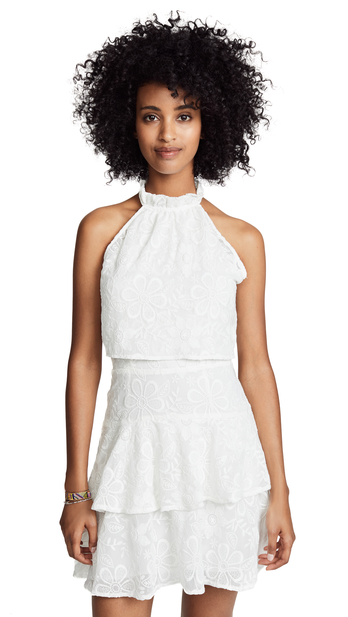 BB Dakota Circle Dot Dress In White