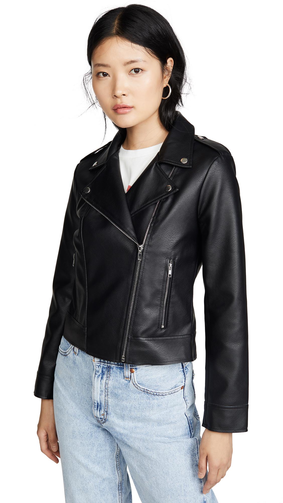 Buy BB Dakota Moto Vegan Leather Finish Jacket online beautiful BB Dakota Clothing, Jackets