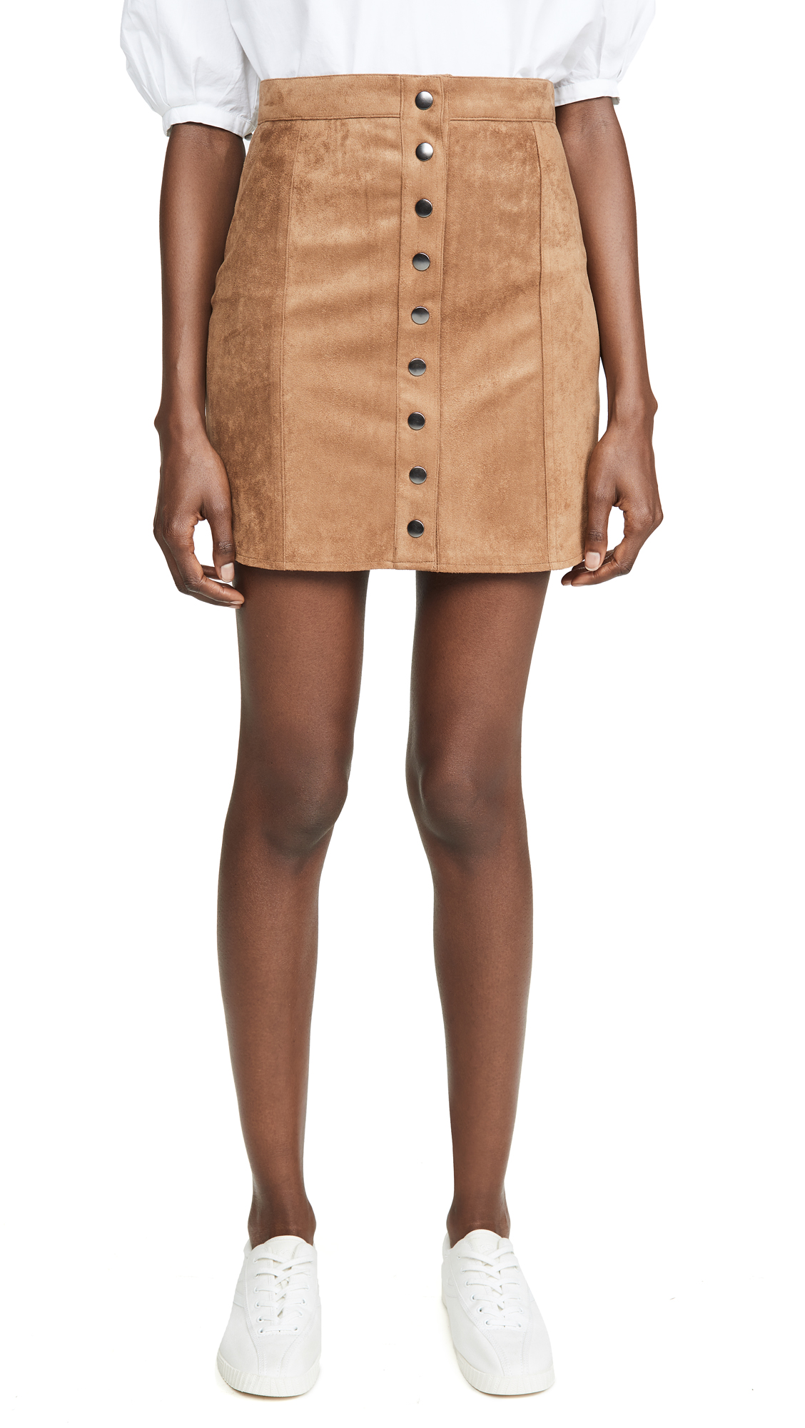 Buy BB Dakota online - photo of BB Dakota Alright Alright Faux Suede Skirt