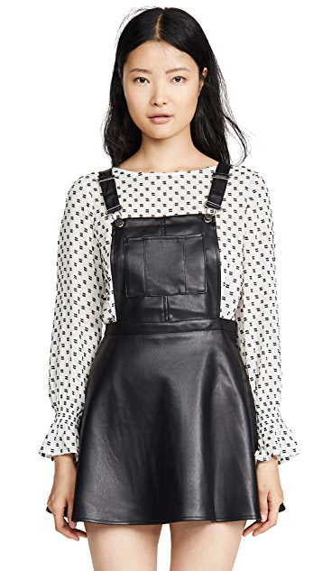 BB Dakota Jack By BB Dakota Pinafore Your Love Faux Leather Dress