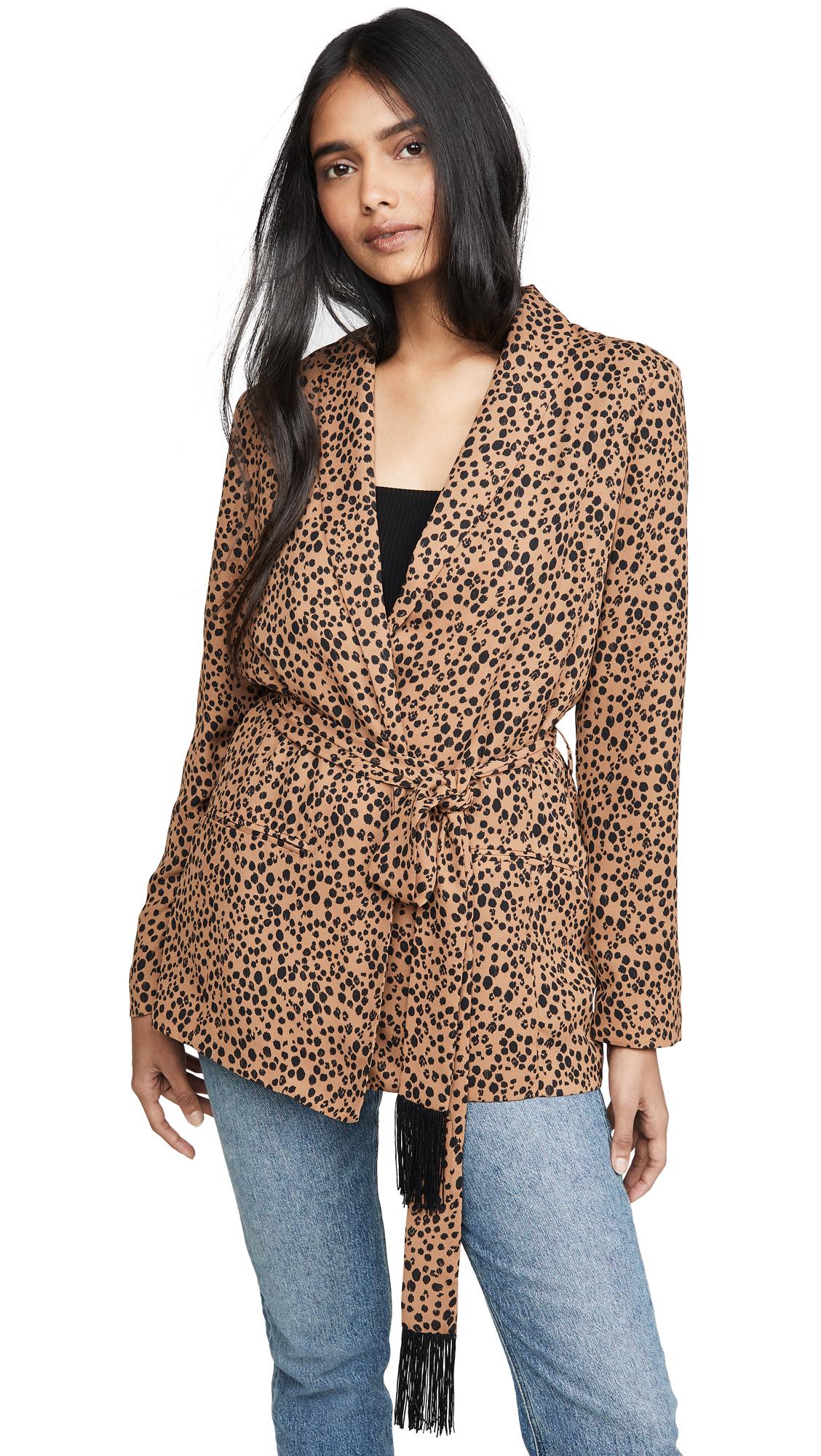 Buy BB Dakota online - photo of BB Dakota Belted Cheetah Print Blazer
