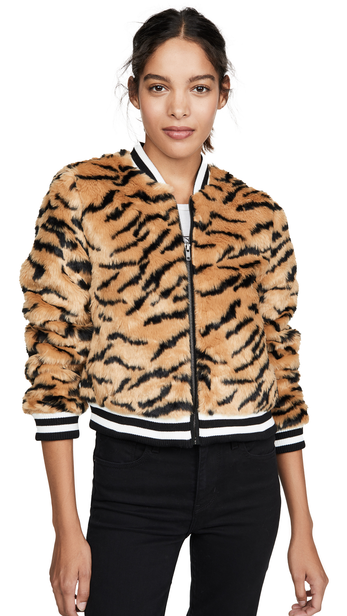 Buy BB Dakota Tiger Beat Faux Fur Bomber online beautiful BB Dakota Jackets, Coats, Down Jackets